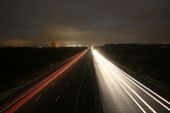 At Night M62 East 1