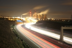 Ferrybridge at Night A1 North 1