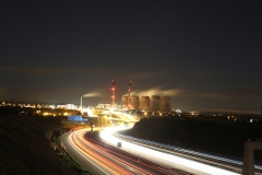 Ferrybridge at Night A1 North 2
