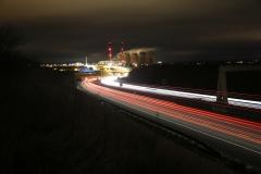 Ferrybridge at Night A1 North 9