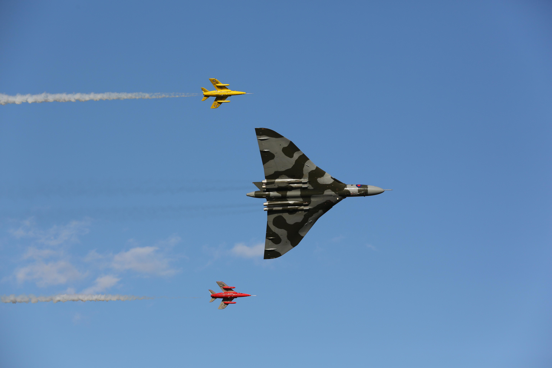 Vulcan Bomber Last Flight Yorkshire Air Show