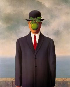 Magritte's famous painting The Son of Man