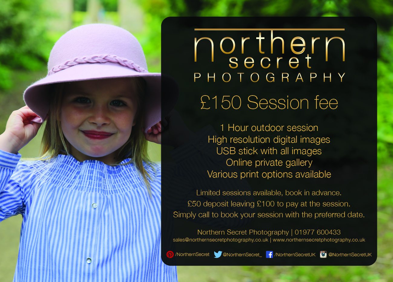 Flyer NSPhoto Photo Shoot Offer A5 2017